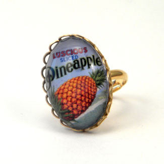 Luscious Pineapple - Tropical Fruit Petite Ring