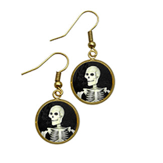 Smiling Skeleton Earrings a Halloween Favorite