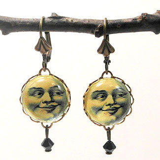 Man in the Moon Face Earrings 3 Ways
