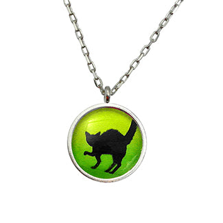 Black Cat Necklace Pendant Necklace