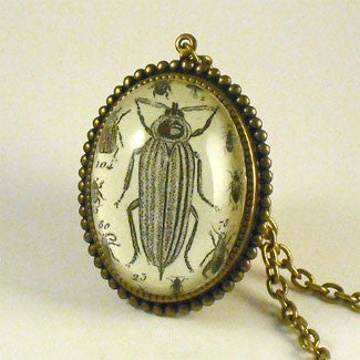 Bed Bugs Vintage Inspired Cricket Insect Necklace