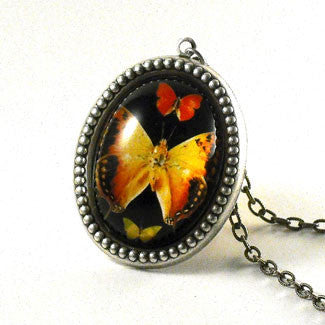 Aphrodite Butterfly Silver Pendant Necklace