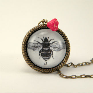 13 Stings Bee - Scientific Honey Bee Engraving Jewelry