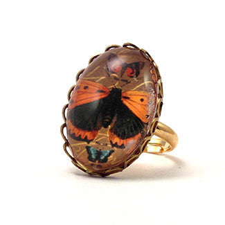 Ethereal Butterfliy With Brown Background Jewelry