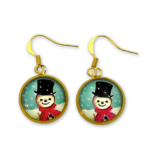 Jolly Snowman - A Winter Holiday Earrings