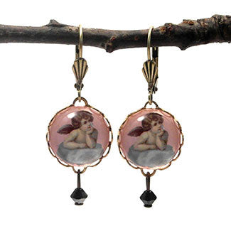 Cloud 9 Cherub 15mm Round Earrings