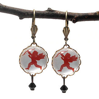 Cupid Messenger of Love Earrings