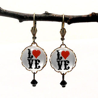 Love Letters 15mm Round Earrings