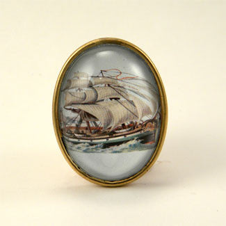 Smooth Sailing Clipper Ship Brooch