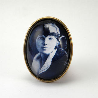 Amelia The Aviator - Amelia Earhart Brooch
