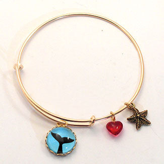 Whale Tail Star Fish Adjustable Bracelet