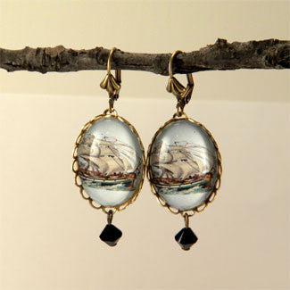 Smooth Sailing Clipper Ship Earrings