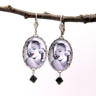 Marilyn Monroe Silver Earrings