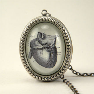 If I Only Had A Heart - Anatomical Heart Engraving Necklaces