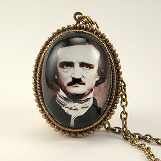 Edgar Allan Poe Image Pendant Necklace