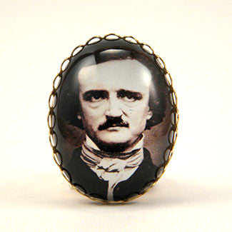 Edgar Allan Poe Cocktail Ring