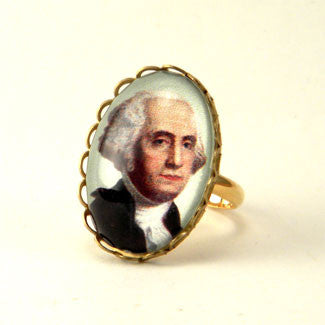George Washington Petite Oval Ring