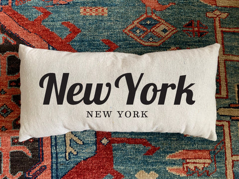 New York, NY Handmade Canvas Pillow
