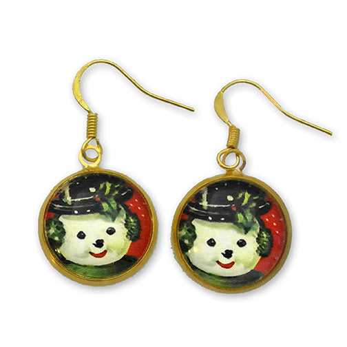 Big Snowman Winter Holiday Jewelry Earrings