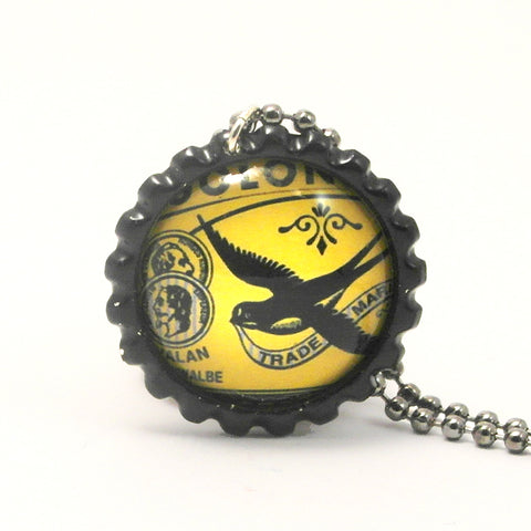 Black Bird - Matchbox Art Jewelry