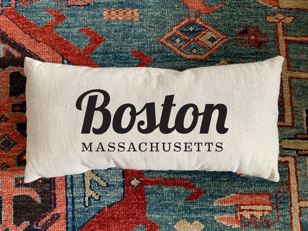 Boston, MA. Handmade Canvas Pillow
