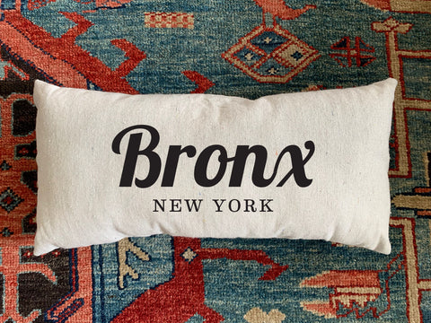 Bronx, NY Handmade Canvas Pillow