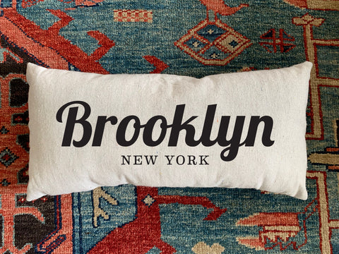 Brooklyn, NY Handmade Canvas Pillow