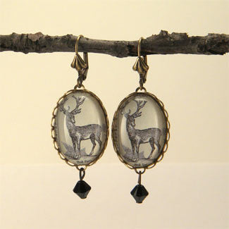 Uncle Buck Woodland Deer Earrings