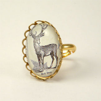 Uncle Buck Woodland Deer Petite Ring