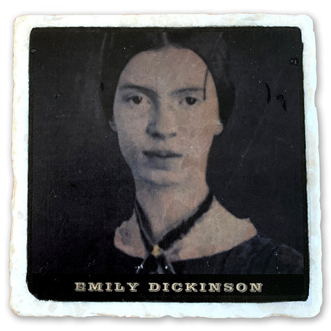 "Emily Dickinson, one of America's Greatest Poets  on 4""x4"" Tumbled Marble Tile"