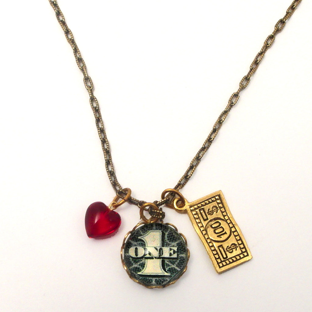 Great Investment $1.00 into $100.00 Charm Necklace