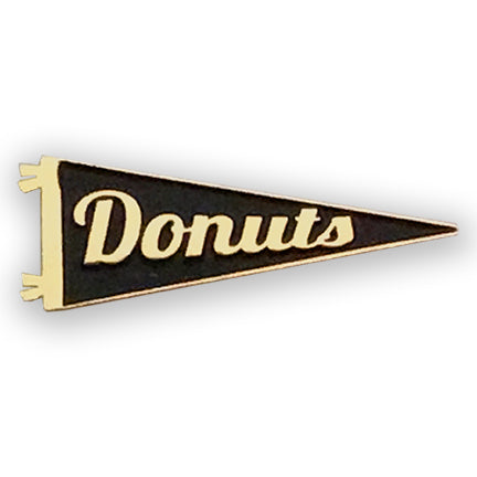 Donuts gold plated Enamel Pennant Pin