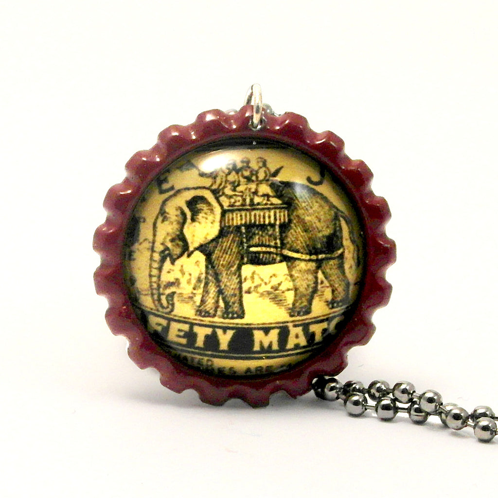 Elephant with Howdah - Matchbox Art Jewelry