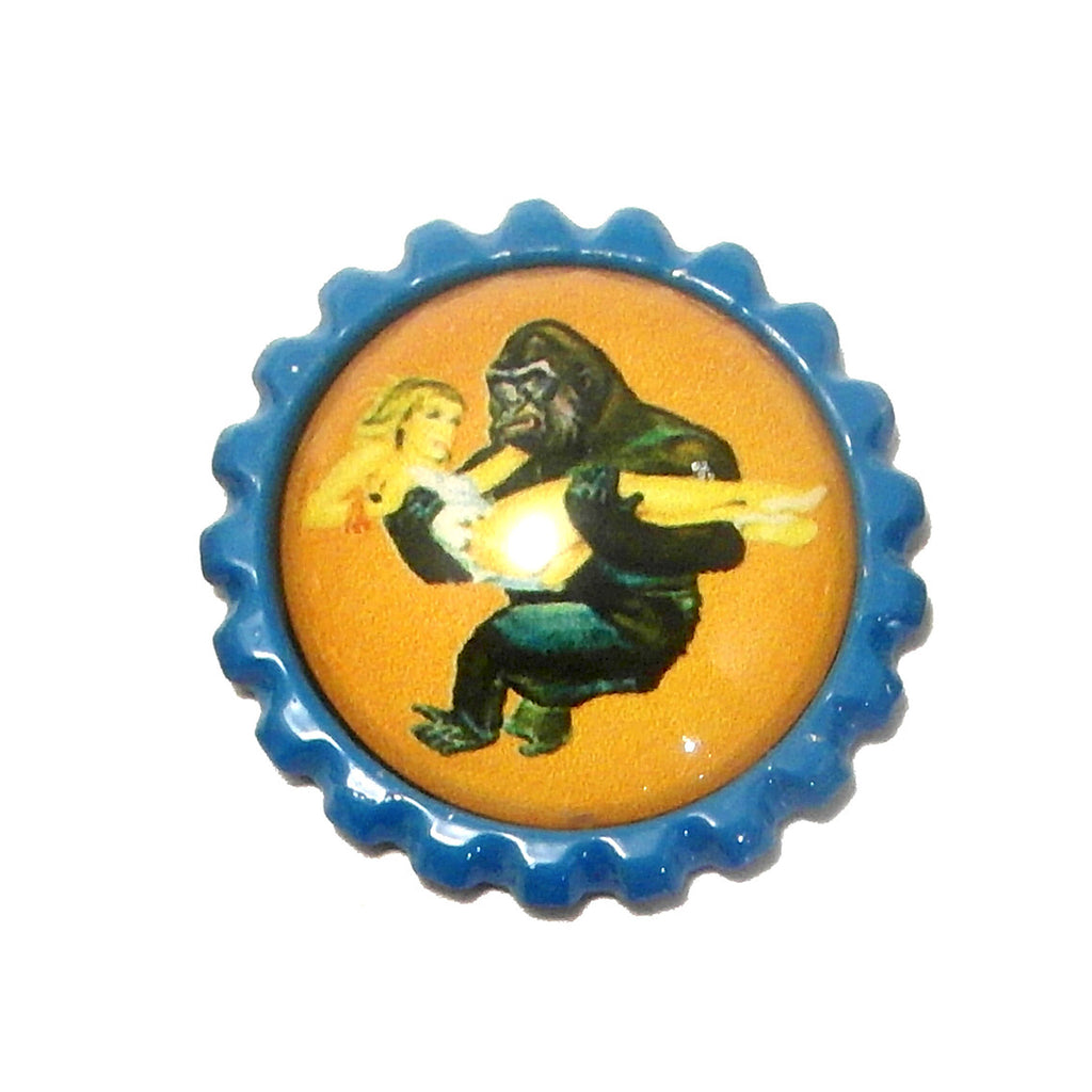 Gorilla & Girl King Kong/Mighty Joe Young- Bottle Cap necklace