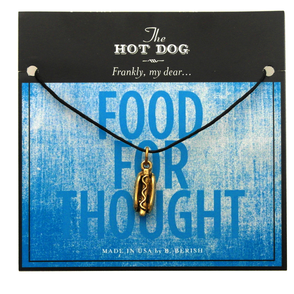 Hot Dog Charm Necklace
