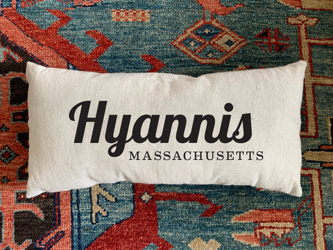 Hyannis, MA Handmade Canvas Pillow