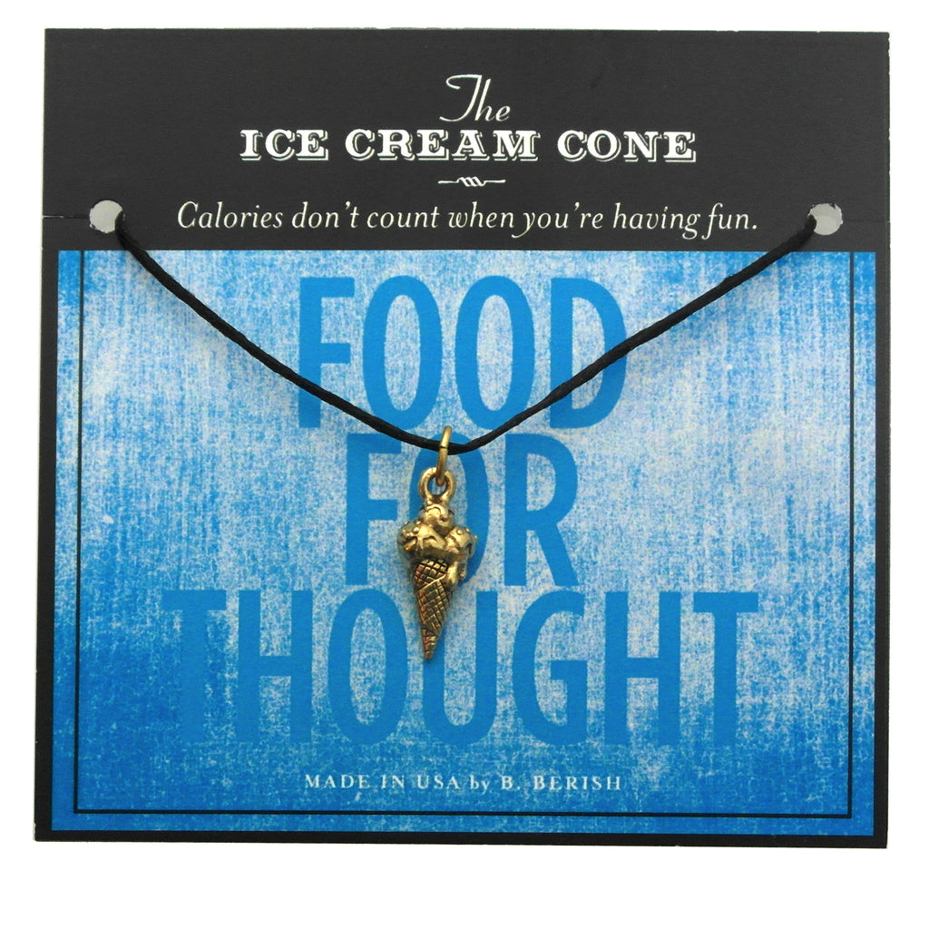 Ice Cream Cone Charm Necklace