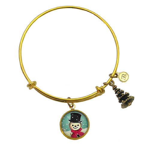 Jolly Snowman - A Winter Holiday Bracelet