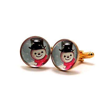 Jolly Snowman - A Winter Holiday Cufflinks