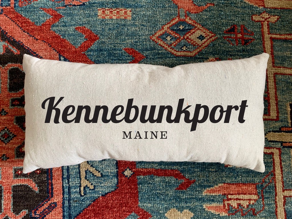 Kennebunkport, ME Handmade Canvas Pillow