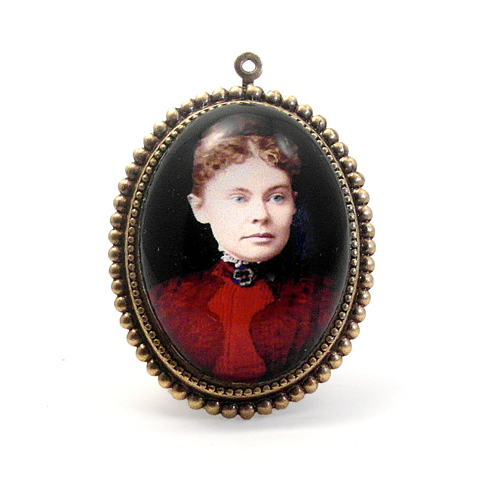 Lizzie Borden - My Favorite Murder from Fall River MA. Pendant Necklace