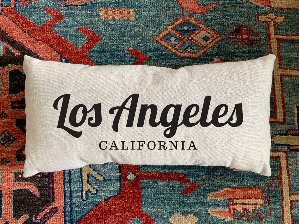 Los Angeles, CA Handmade Canvas Pillow