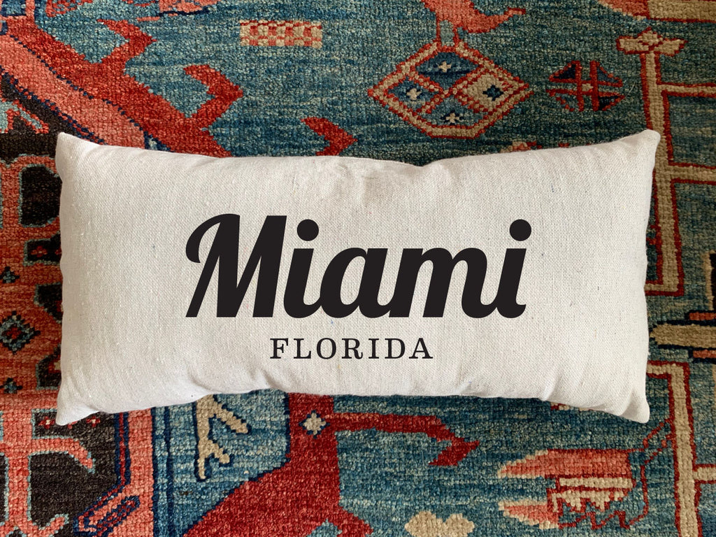 Maimi, Fl Handmade Canvas Pillow
