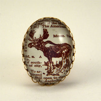 Chocolate Moose Deluxe KIng of the Woods Engraving Cocktail Ring