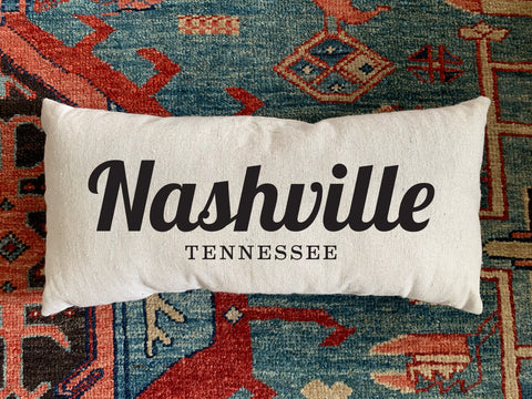 Nashville, TN Handmade Canvas Pillow