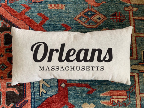 Orleans, MA Handmade Canvas Pillow