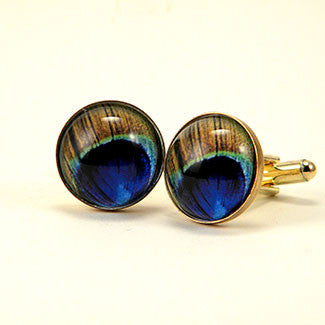 Proud As A Peacock Cuff LInks