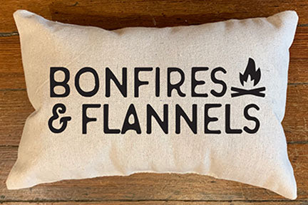 Bonfire & Flannels Handmade Canvas Pillow