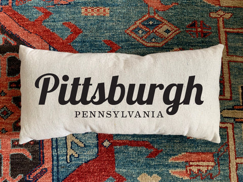 Pittsburgh, PA Handmade Canvas Pillow