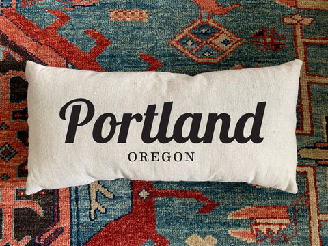 Portland, OR Handmade Canvas Pillow